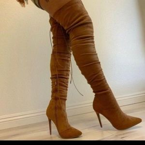 NIB 🆕 Tan Over the Knee Thigh high boots Size 10